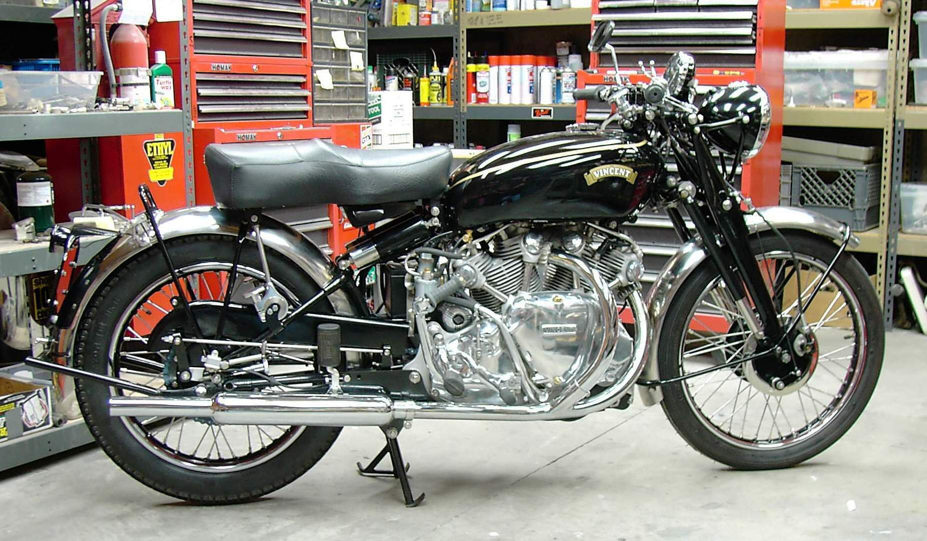 Vincent Motorcycle Free Classifieds 1948 Indian Engine Diagram Here Are Genes Instructions I Since Made A Rolling Chassis Out Of The Drag Race Frame Enclosed Some Photos My Grandsons On Bike