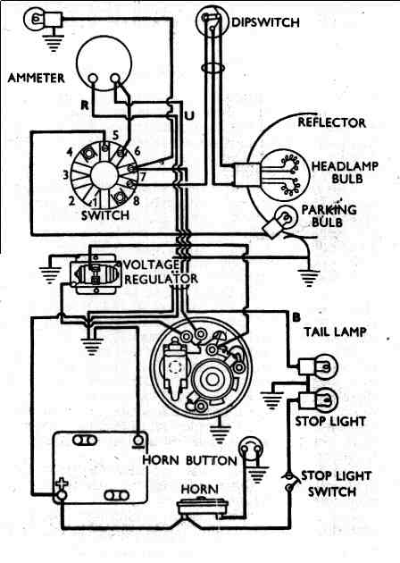 WiringDiagram B C2 vincent motorcycle electrics wiring diagram for 6 volt voltage regulator at bayanpartner.co